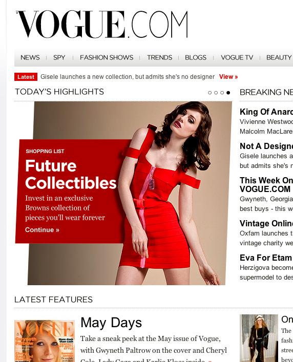 Vogue.com - Browns Future Collectables - 9th April 2010