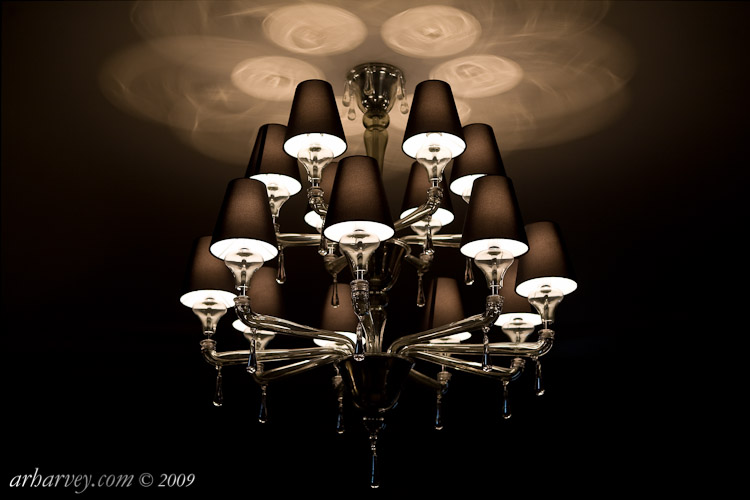 Chandelier, informal reception